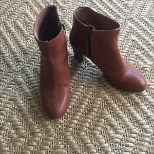 J.Crew Aggie Tan Leather Ankle Boot - Like New